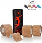 Teipas-FlexU-Premium-Kinesiology-Tape-3-roll-pack-5mx5m-beige