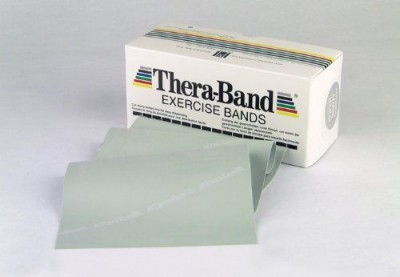 Elastine-juosta-Thera-Band-18-m-sidabrine